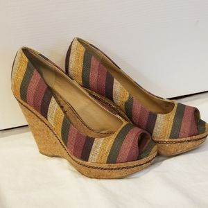 Anthropologie Splendid Cork Wrapped wedges